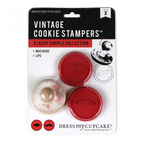 Vintage Cookie Stampers, Classy Couple Collection, 2-pack