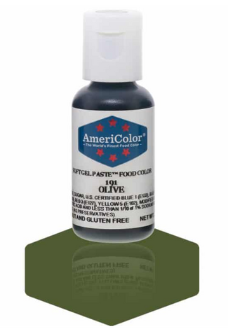 Americolor Soft Gel Paste - Olive .75 oz