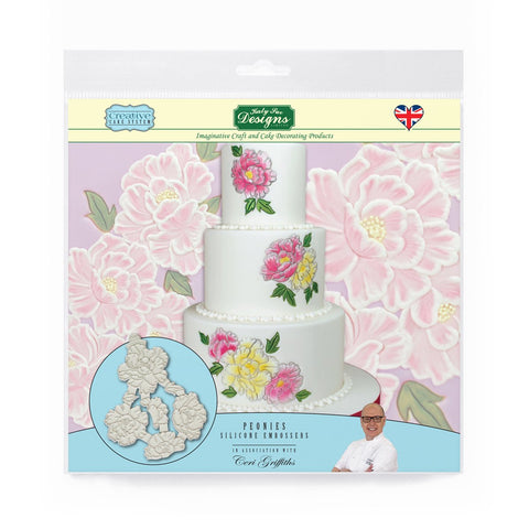 Peonies Silicone Embossers