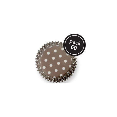 PME BROWN POLKA DOTS STANDARD BAKING CASES