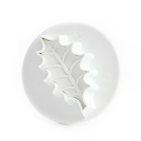 VEINED HOLLY LEAF PLUNGER CUTTER MED