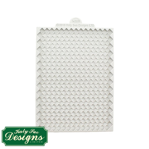 Continuous Rattan Basket Weave Textured Silicone Mould Design Mat