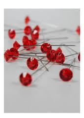 Red Diamante Gem Pins