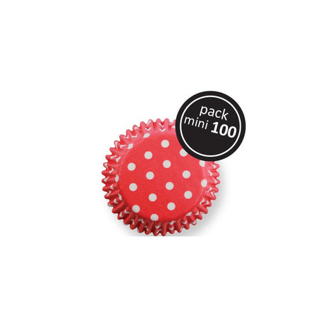 RED POLKA DOTS MINI BAKING CASES