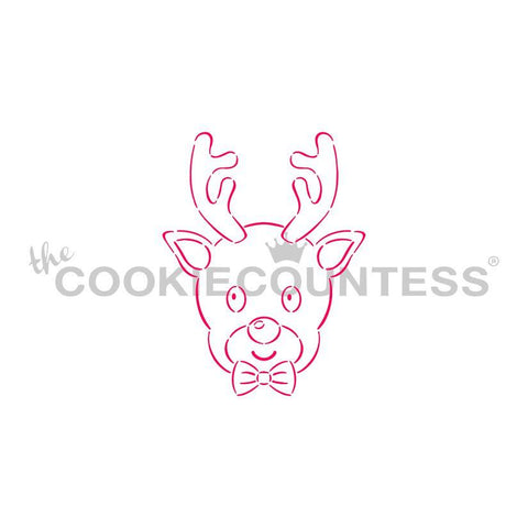 Reindeer Boy PYO   - Cookie Countess (HOLIDAY STENCIL)