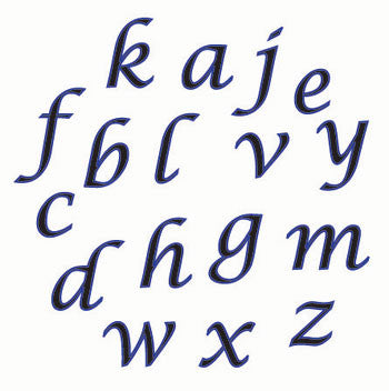 FMM Alphabet Set Lower Case Script