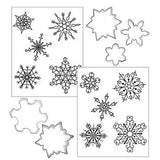 Cookie Cutter Texture Set - Snowflakes