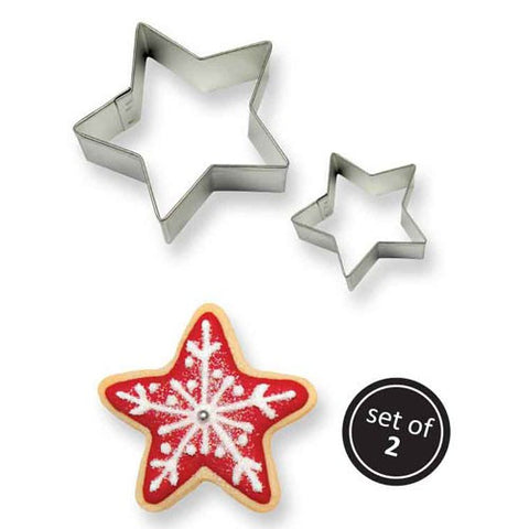 PME star cookie cutter Set of 2