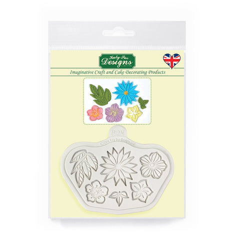 Stylised Flowers Silicone Mould