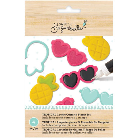 Sugarbelle Tropical Cookie Cutter & Stamp Set