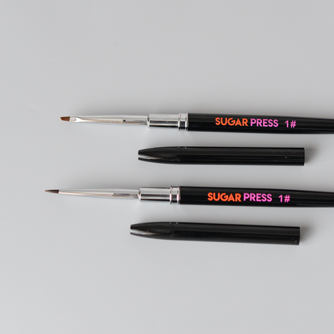 Sugar Press Paintbrushes - #1 and Chisel  - Preorder