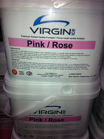 Virgin Ice Fondant - 4lb bucket PINK