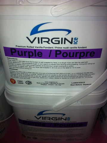 Virgin Ice Fondant - 4lb bucket PURPLE