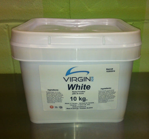 Virgin Ice Fondant - 10KG Bucket White