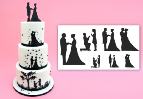 Wedding Silhouette Set -  Patchwork Cutter