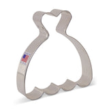 "Wedding Dress Cookie Cutter 4"" x 3 3/4"""