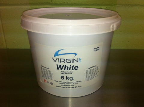 Virgin Ice Fondant - 5KG Bucket White
