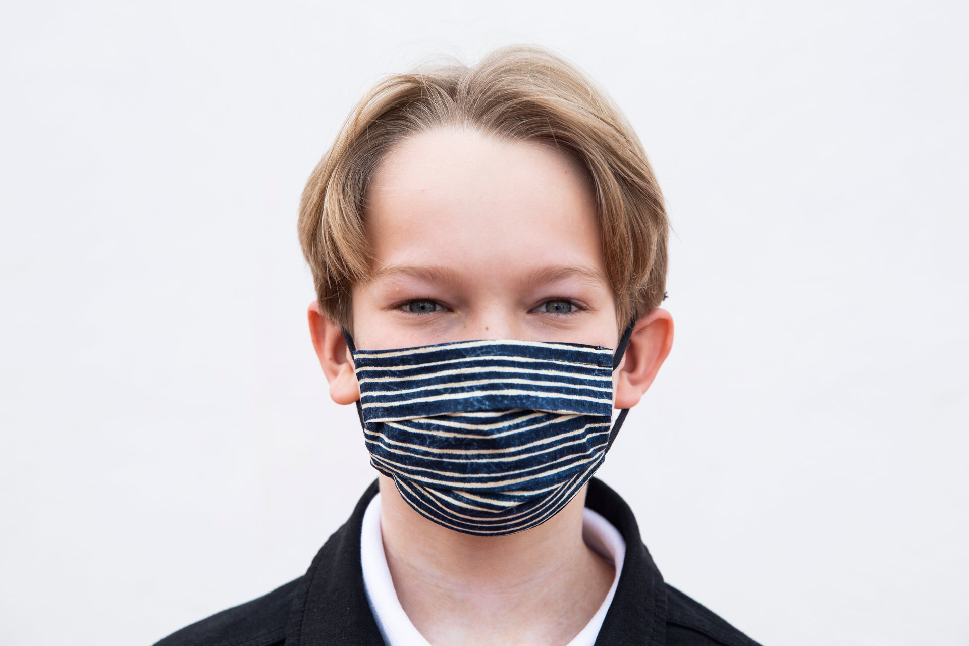 Kids Mask Blue Stripes