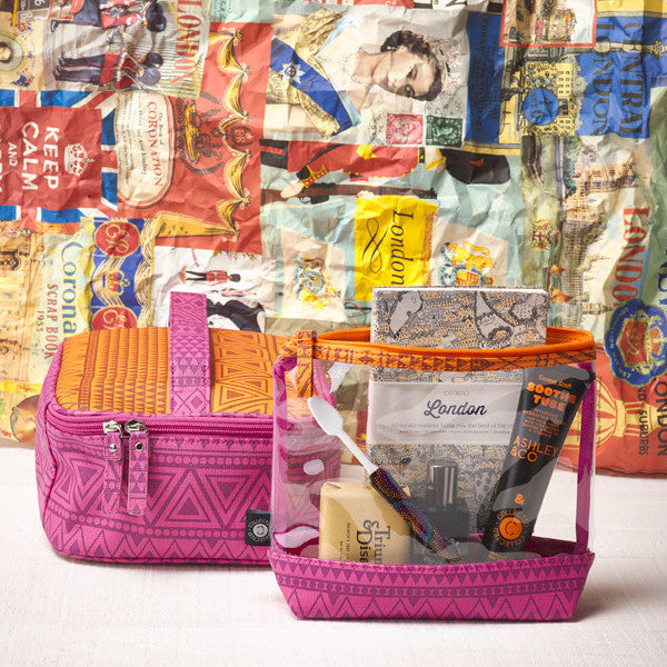 Collected Travel Bag | Pink & Tangerine | SALE