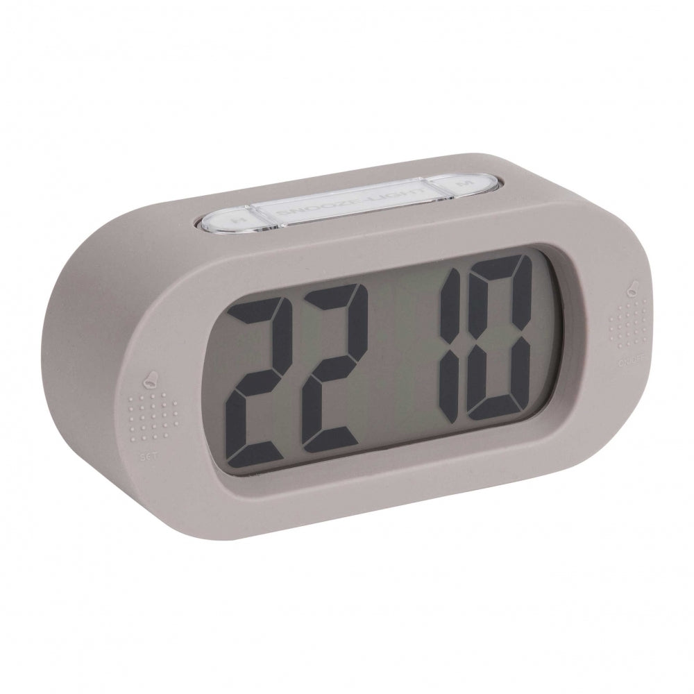 Karlsson Alarm Clock | Gummy | Grey