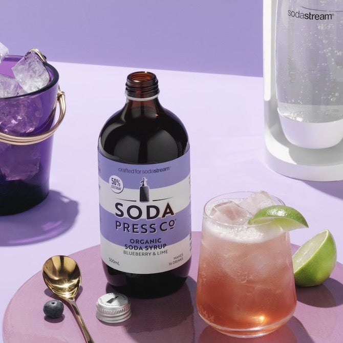 Soda Press Co. | Soda Syrups | Organic Blueberry & Lime