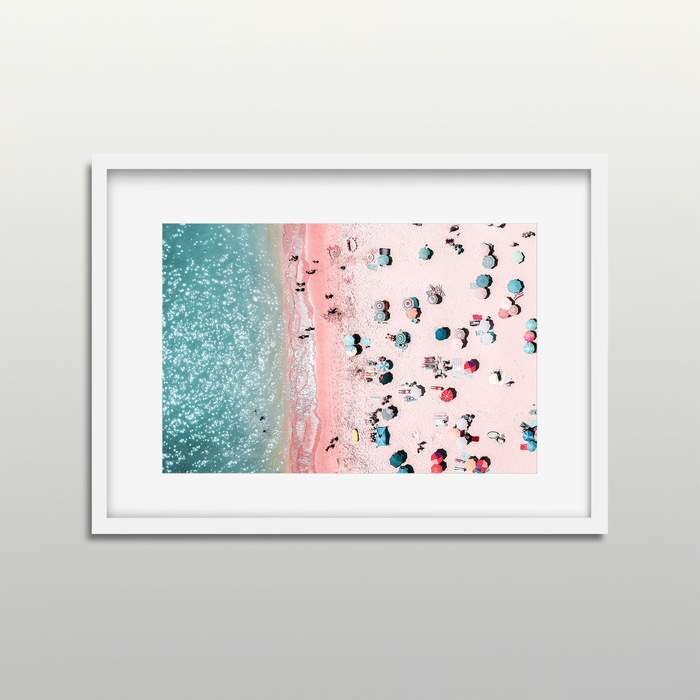 Framed Art | Aerial Beach