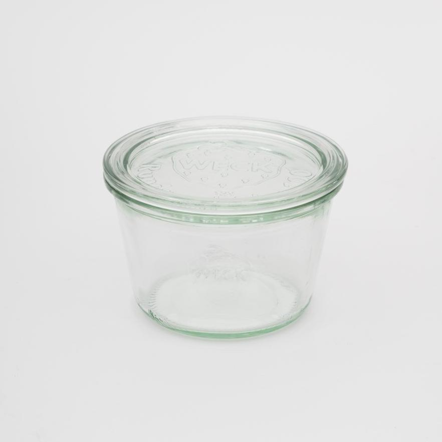 WECK Mold Jar | 370ml | Glass With White Lid