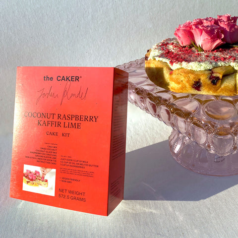 The Caker | Coconut Raspberry Kaffir Lime  Cake Kit