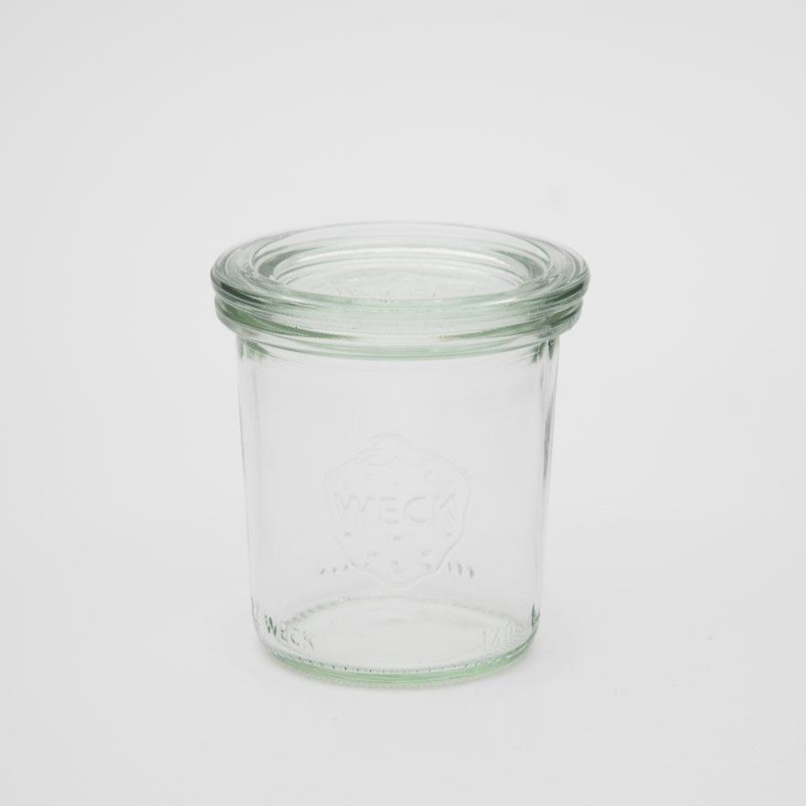 WECK Mini Mold Jar | 140ml | Glass With White Lid