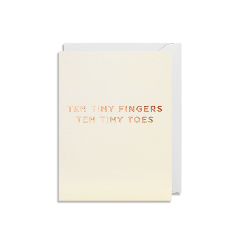Card | Small | Ten Tiny Fingers Ten Tiny Toes