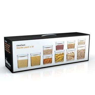 Click Clack | Pantry Storage | 10 Piece Set