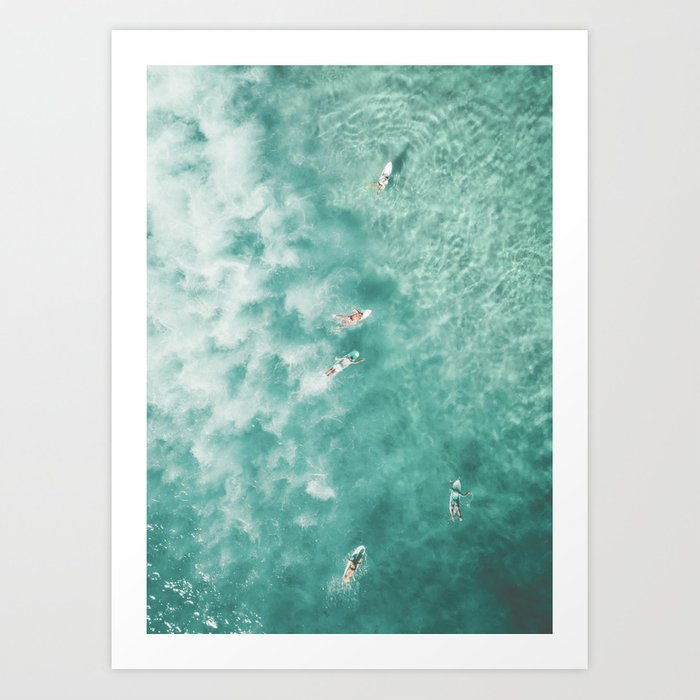 Framed Art | Surfing In The Ocean