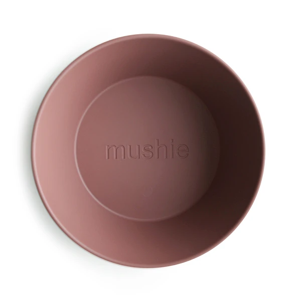 Mushie | Dinner Bowl | Round | Woodchuck | Set Of Two