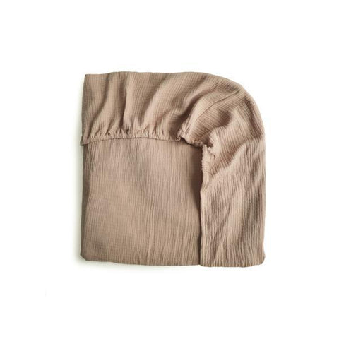 Mushie | Crib Fitted Sheet | Natural