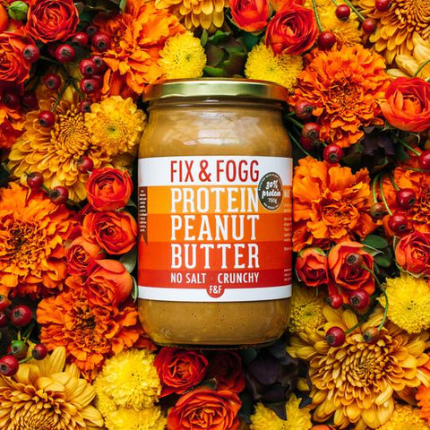 Fix and Fogg Peanut Butter | Crunchy Protein Peanut Butter | 750gr