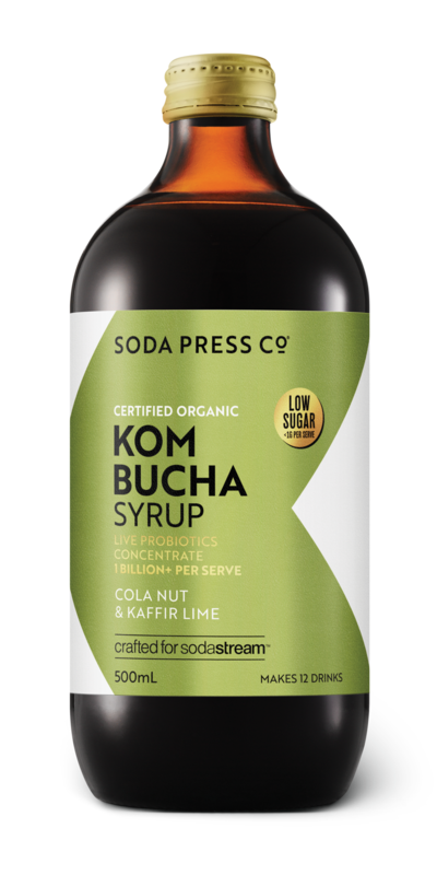 Soda Press Co. | Kombucha Soda Syrup Concentrate | Organic Cola Nut & Kaffir Lime