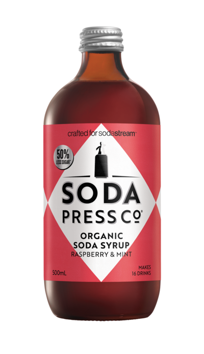 Soda Press Co. | Soda Syrups | Organic Raspberry & Mint