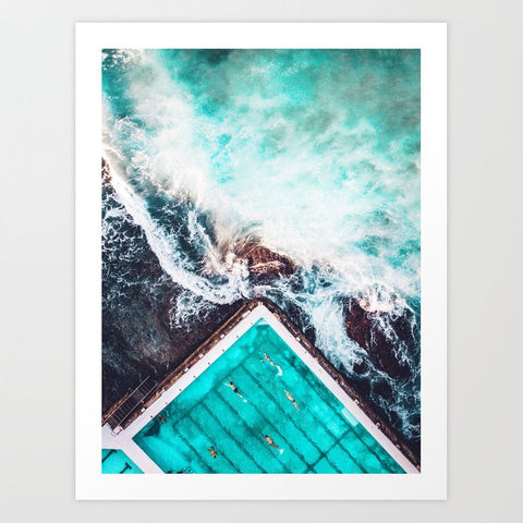 Framed Art | Sydney Bondi Icebergs | ETA JUNE 30