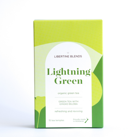 Libertine Blends Tea | Lightening Green | 15 Temples