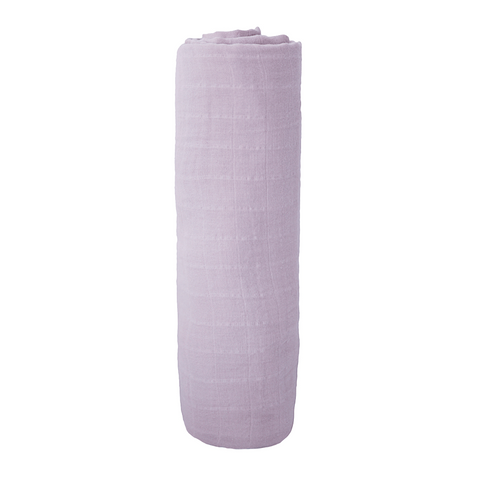 Mushie | Muslin Swaddle Blanket | Soft Mauve