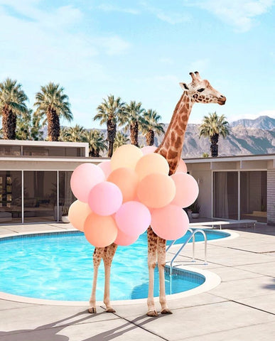 Framed Art | Palm Springs Giraffe ETA FEB 20