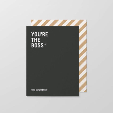Card | You're The Boss | Black