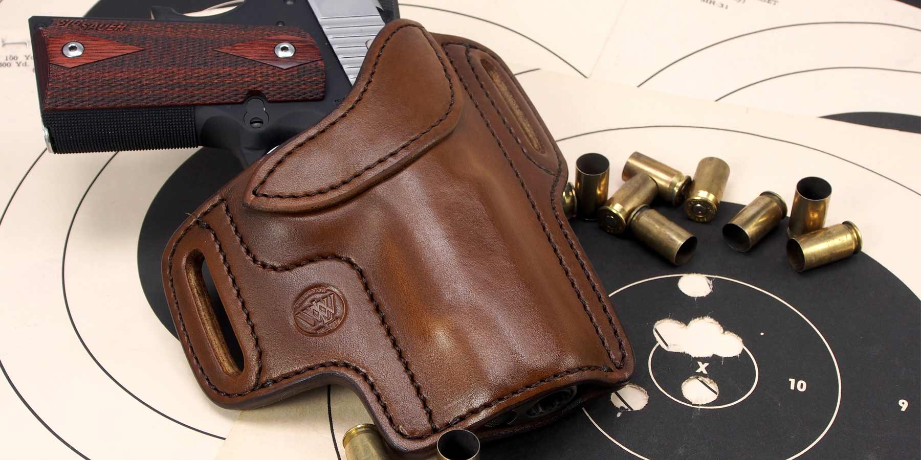 Colt Officer 1911 Compact IWB Leather In Waistband Concealed Carry Holster TAN