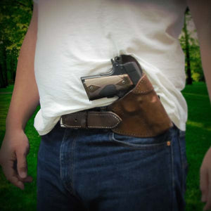 Wearing the Regulator Cross Draw Holster