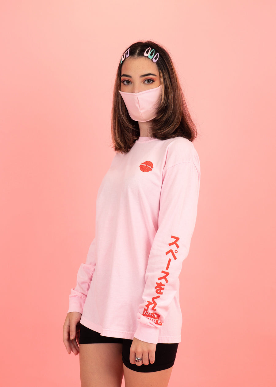 Space World Long Sleeve T-Shirt Pink