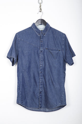 Acid Wash Short Sleeve Shirt