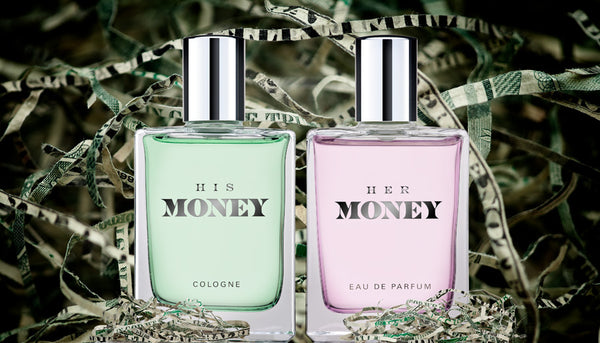 His & Her Money Cologne and EAU DE PARFUM with real shredded money