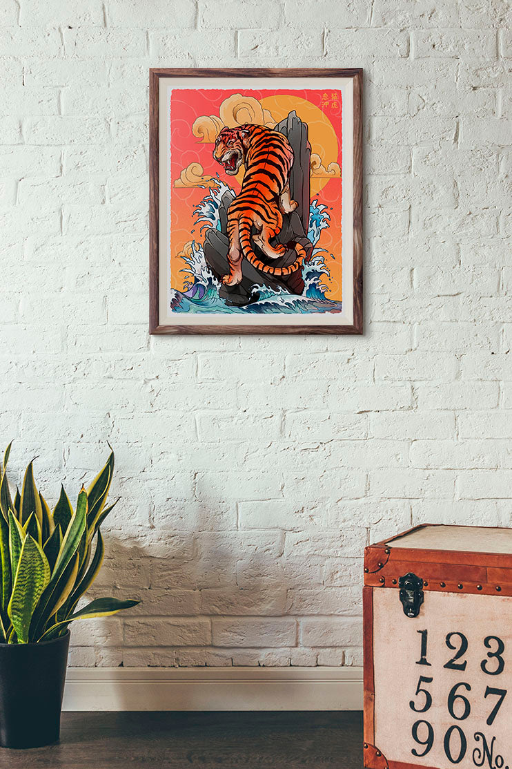 Fierce Tiger - Print