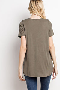All Tied Up Tee (Olive)