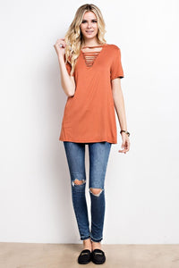 Rock My World Tee (Terracotta)